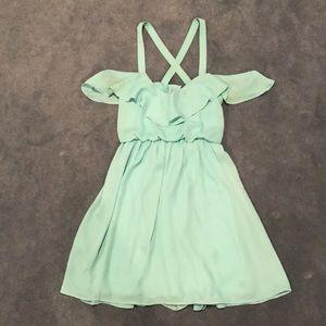 NEVER WORN Tobi Turquoise Ruffle Dress